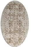 rug #1098174   oval beige damask rug