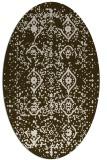 rug #1098177 | oval faded rug