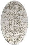 rug #1098178 | oval white faded rug