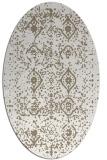 rug #1098178 | oval white traditional rug