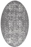 rug #1098207 | oval faded rug