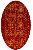 rug #1098224   oval faded rug