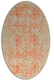 rug #1098230 | oval beige faded rug