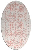 rug #1098250 | oval white faded rug