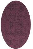 rug #1098254   oval purple faded rug