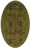rug #1098258 | oval purple faded rug