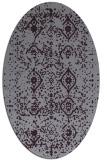 rug #1098266 | oval purple damask rug