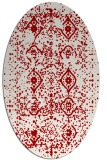 rug #1098270 | oval red traditional rug