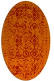 rug #1098274 | oval red traditional rug