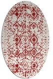 rug #1098278 | oval red faded rug