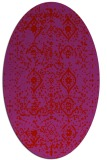 rug #1098282 | oval red traditional rug