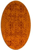 rug #1098286 | oval red-orange damask rug
