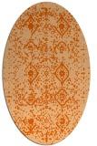 rug #1098290   oval red-orange faded rug