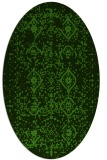rug #1098302 | oval light-green rug