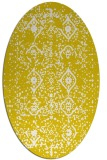 rug #1098310 | oval white faded rug