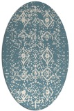 rug #1098326 | oval white faded rug