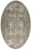 rug #1098330 | oval white faded rug