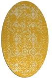 rug #1098334 | oval yellow rug