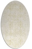 rug #1098338 | oval yellow faded rug