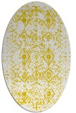rug #1098342 | oval yellow faded rug