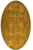 rug #1098346 | oval yellow traditional rug