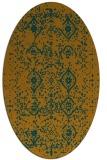 rug #1098348 | oval faded rug