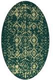 rug #1098350   oval yellow damask rug