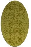 rug #1098354 | oval light-green faded rug