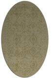 rug #1098358 | oval light-green faded rug