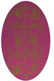 rug #1098362   oval pink damask rug