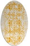 rug #1098370 | oval light-orange damask rug