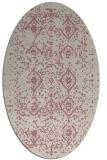 rug #1098374   oval pink damask rug