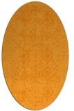 rug #1098378 | oval light-orange damask rug