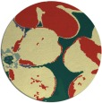 rug #109845 | round yellow natural rug
