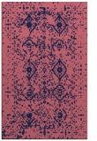 rug #1098482 |  blue-violet faded rug