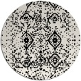 rug #1098758 | round white faded rug