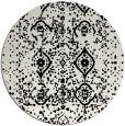 rug #1098758 | round black rug