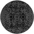 rug #1098762   round black damask rug