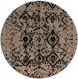 rug #1098766 | round black faded rug