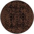 rug #1098770 | round black damask rug