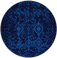 rug #1098786 | round blue faded rug