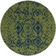 rug #1098798 | round green rug