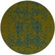 rug #1098834 | round green damask rug