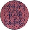 rug #1098850 | round pink damask rug
