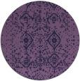 rug #1098854 | round purple traditional rug