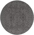 rug #1098906 | round brown damask rug