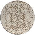 rug #1098910 | round beige faded rug