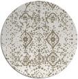 rug #1098914 | round mid-brown damask rug
