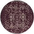 rug #1098918   round pink damask rug