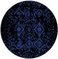 rug #1098954 | round black damask rug